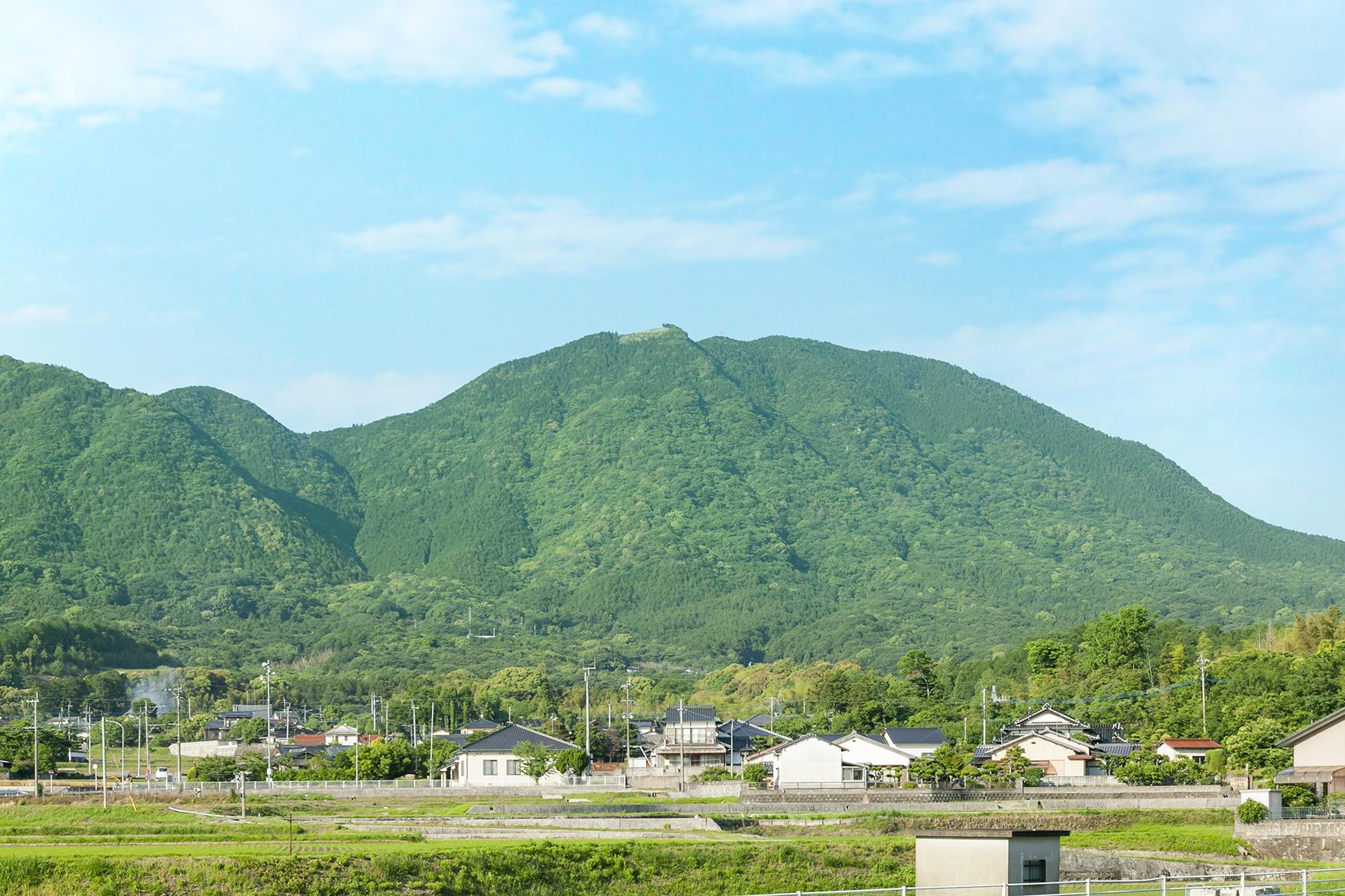 柿下から大坂山の風景