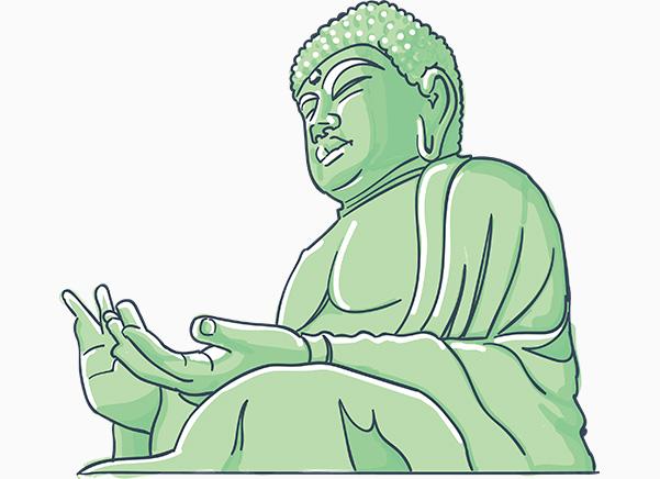 奈良の⼤仏は ・ ・ ・
