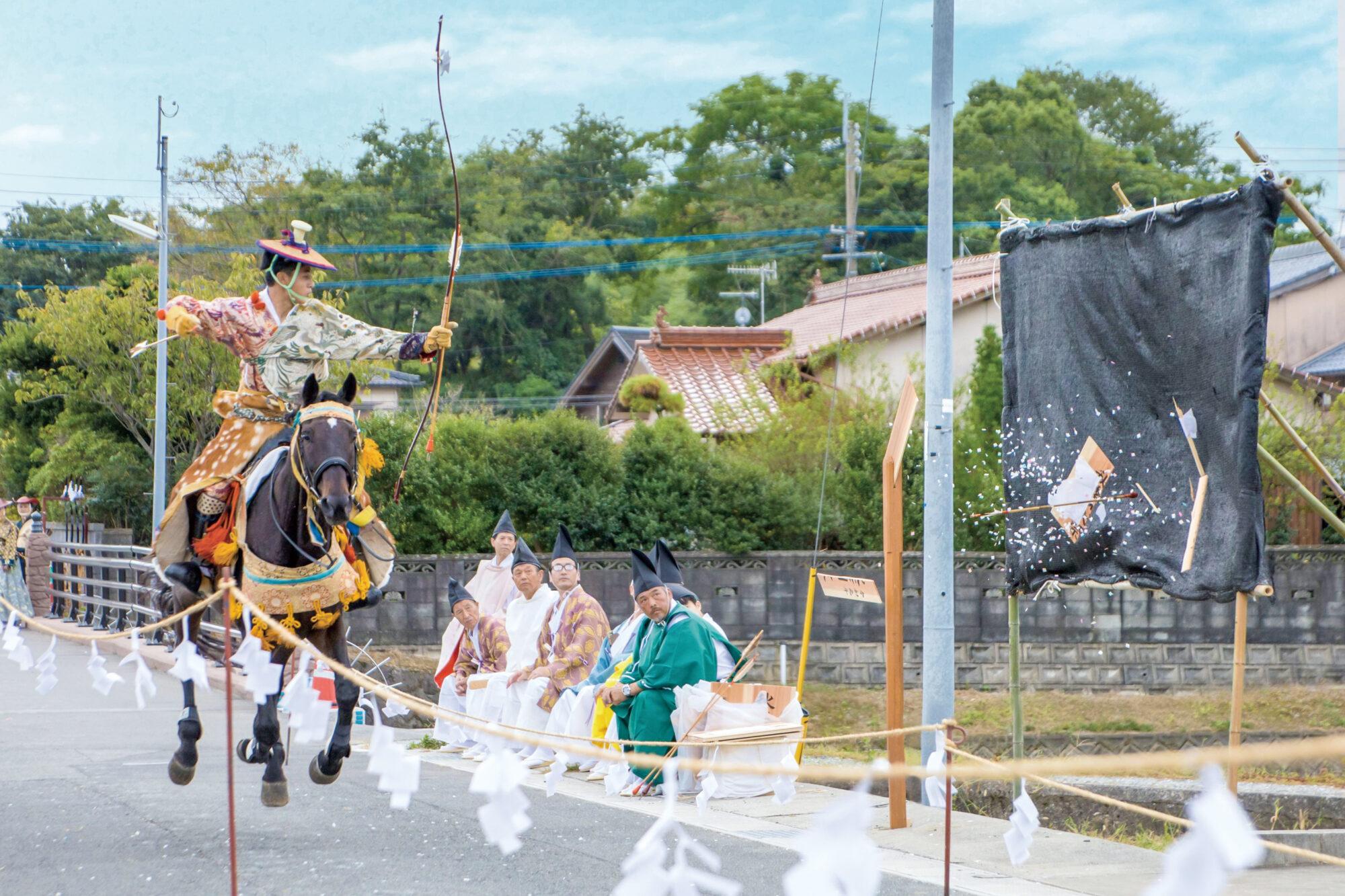 鶴岡⼋幡神社 流鏑馬